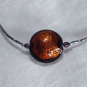 Jewelry - Italian Glass Hand Blown Pendant Necklace